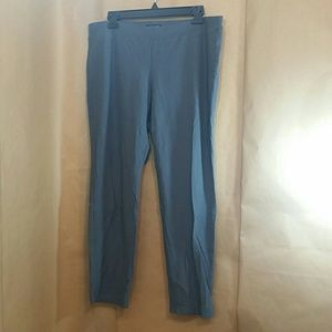 Eileen Fisher gray pull on travel pants sz large
